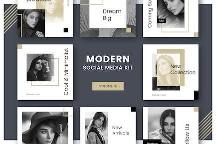 Modern Social Media Kit (Vol. 15)