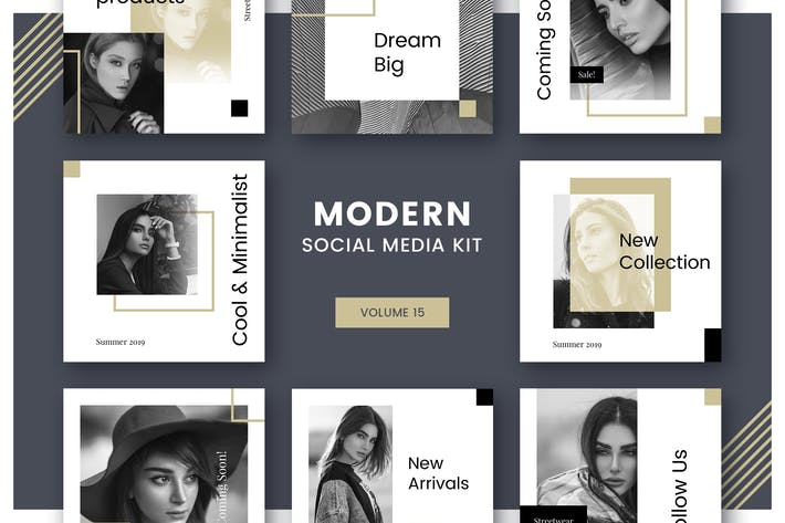Thumbnail for Modern Social Media Kit (Vol. 15)