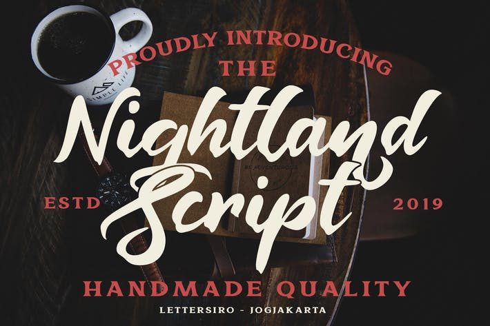 Thumbnail for Nightland Font