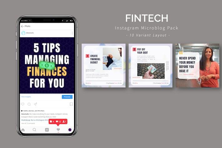 Fintech - Instagram Microblog Pack