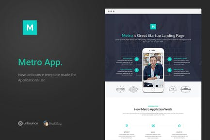 Metro App - Unbounce Landing Page