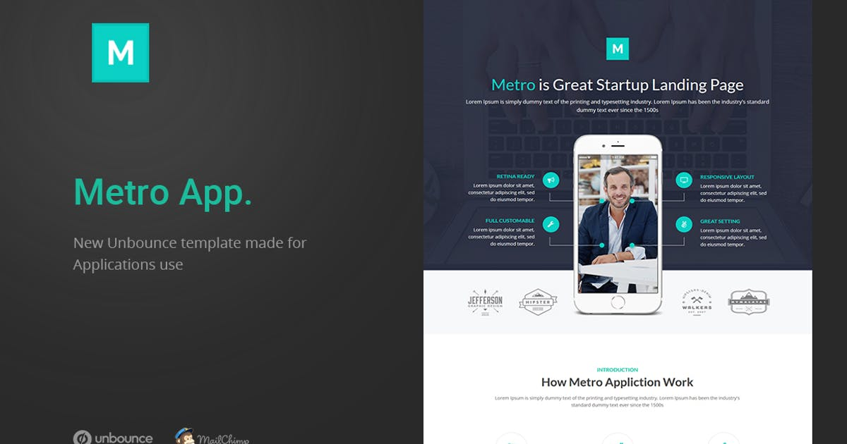 Download Metro App - Unbounce Landing Page by ExplicitConcepts