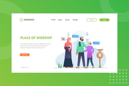 Place of Worship Landing Page