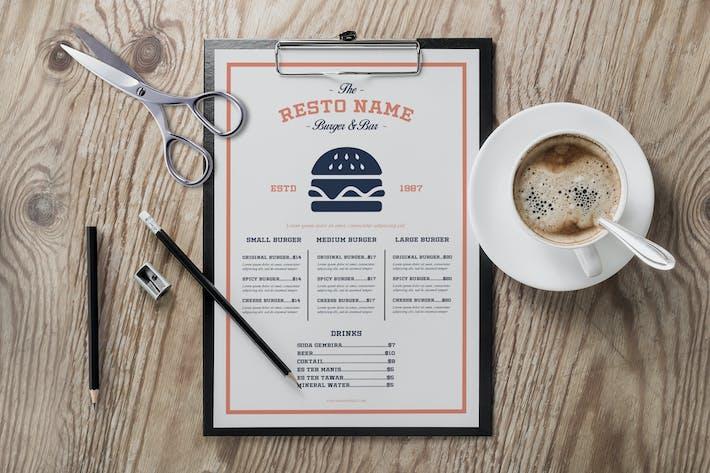 Thumbnail for Vintage Burger Menu