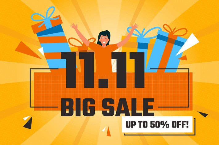 Thumbnail for 11.11 Happy Big Soldes - Illustration plate