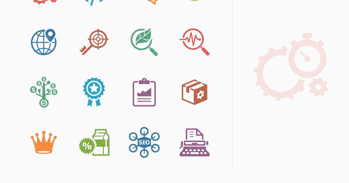 Colored SEO & Internet Marketing Icons - Set 4 by Unknow