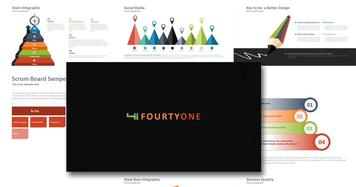 Download Fourty One - Keynote Template by Artmonk