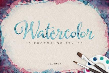 Watercolor Photoshop Styles Volume 1