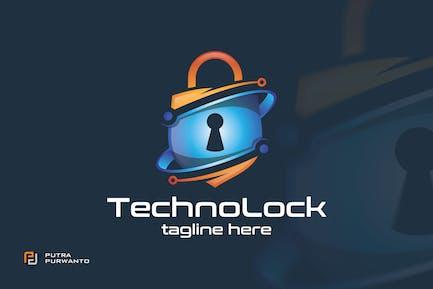 Techno Lock - Logo Template