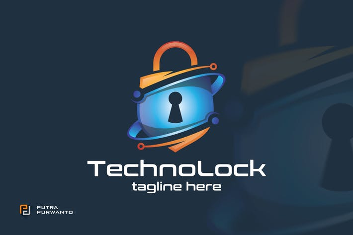 Thumbnail for Techno Lock - Logo Template