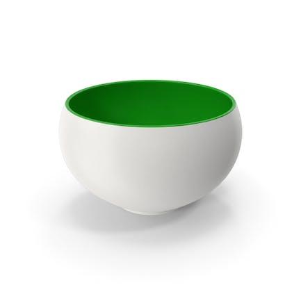 Ceramic Bowl Green White