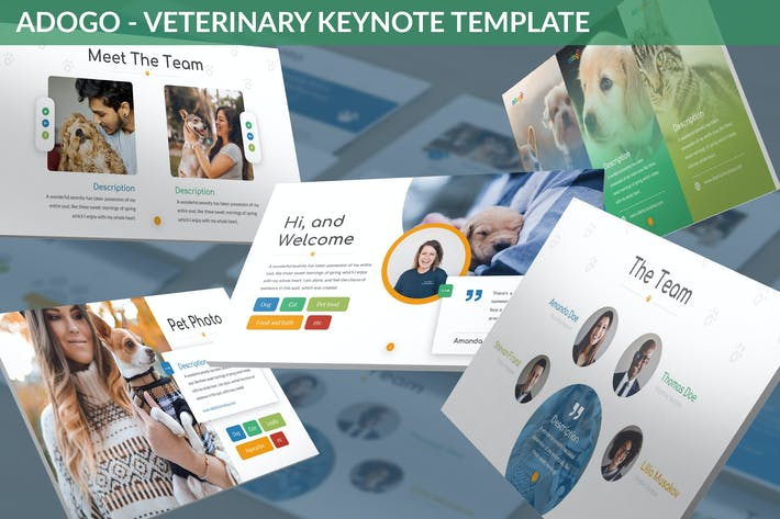 Thumbnail for Adogo - Veterinary Keynote Template