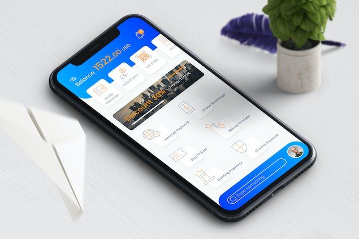Thumbnail for E Wallet Mobile Ui - TH