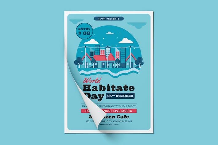 Thumbnail for World Habitat Day Flyer Template