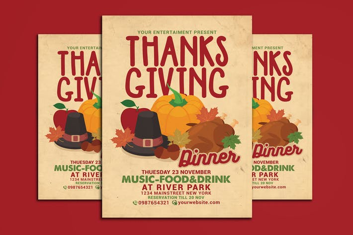 Thumbnail for Thanksgiving Dinner Celebration Flyer