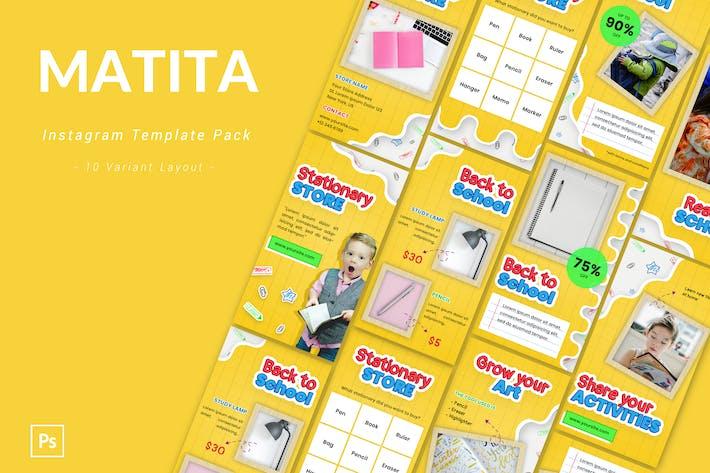 Thumbnail for Matita - Instagram Template Pack