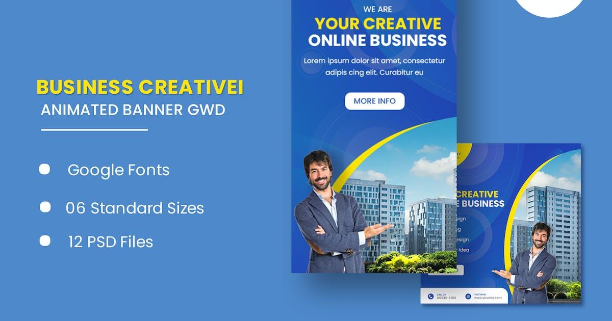 Download Creative Market Animated Banner GWD by IsLein