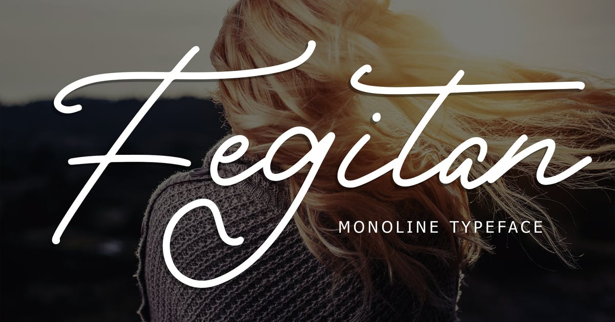 Download Fegitan Monoline Typeface by Formatika