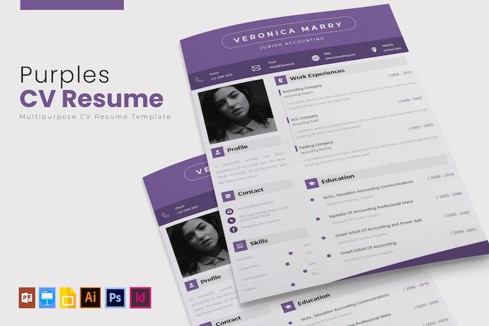 Thumbnail for Purples | CV & CV