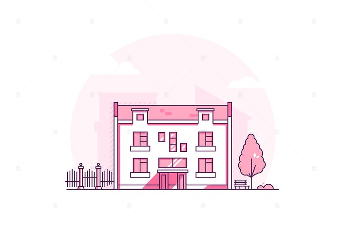 Thumbnail for City architecture - line design style illustration