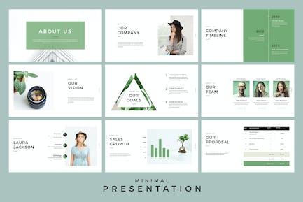 Minimal Presentation Keynote Template