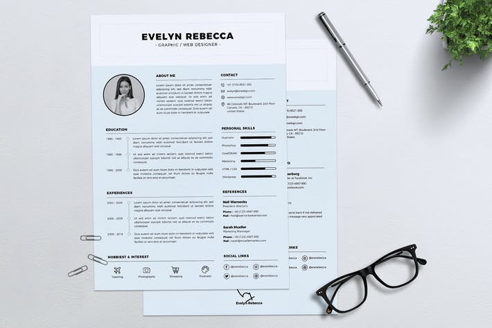Thumbnail for Minimalist CV Resume Vol. 04