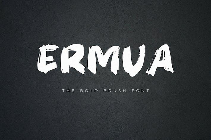 Ermua - Police de pinceau gras