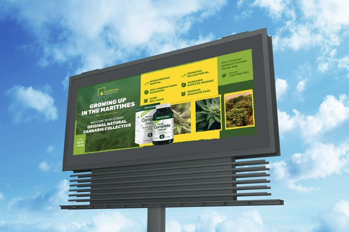 Thumbnail for Cannabis Hemp Oil Products Billboard