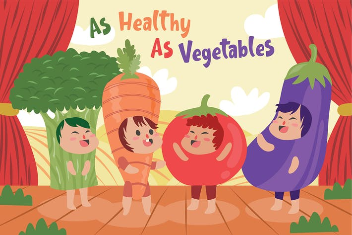 Thumbnail for Vegetables - Vector Illustration