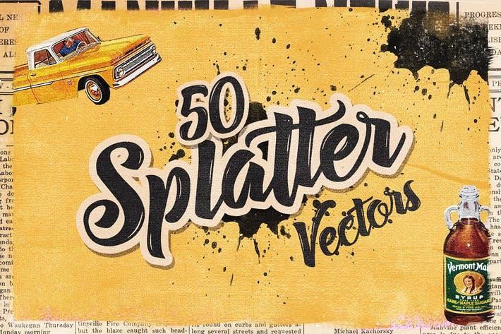 Thumbnail for 50 Handmade Splatter Vectors