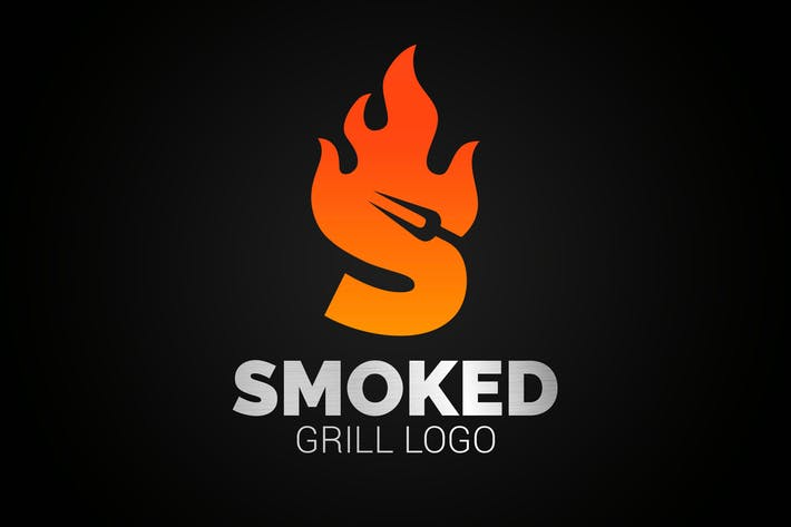 Thumbnail for Letter S Fire Grill Logo