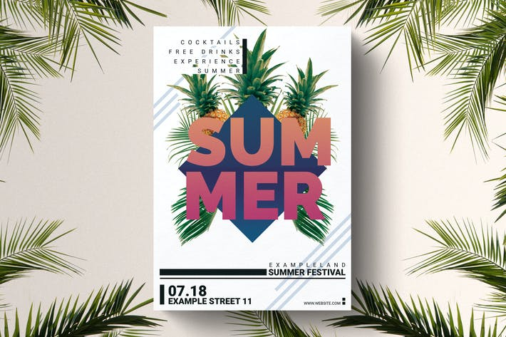 Sommer-Party-Flyer Vorlage