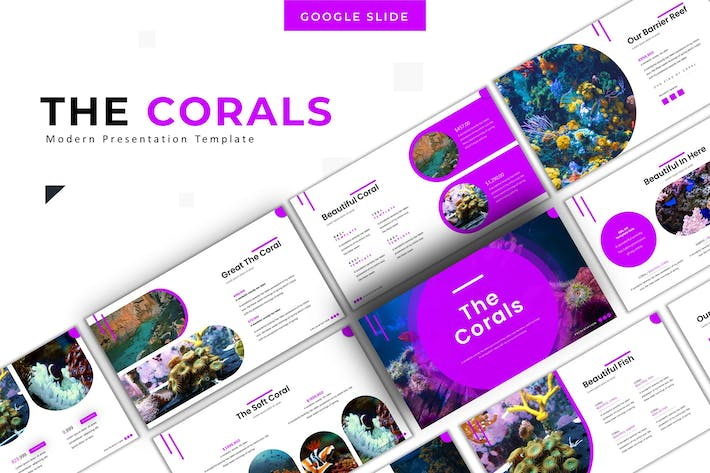 Thumbnail for The Corals - Google Slide Template