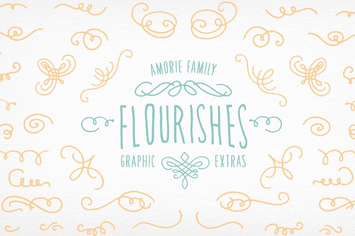 Thumbnail for Amorie Font Elements - Flourishes