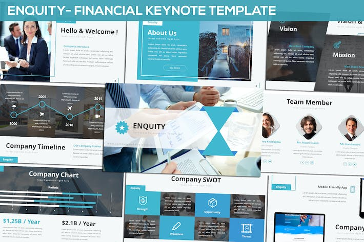 Thumbnail for Enquity - Financial Keynote Template