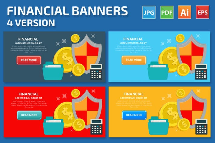 Thumbnail for Financial Banners Design