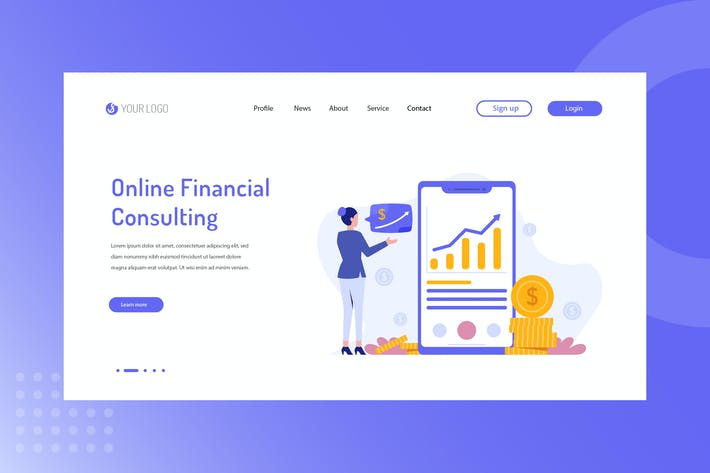 Thumbnail for Online Financial Consulting Landing Page