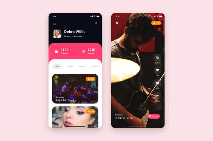Thumbnail for Video Streaming Mobile App UI Kit Template
