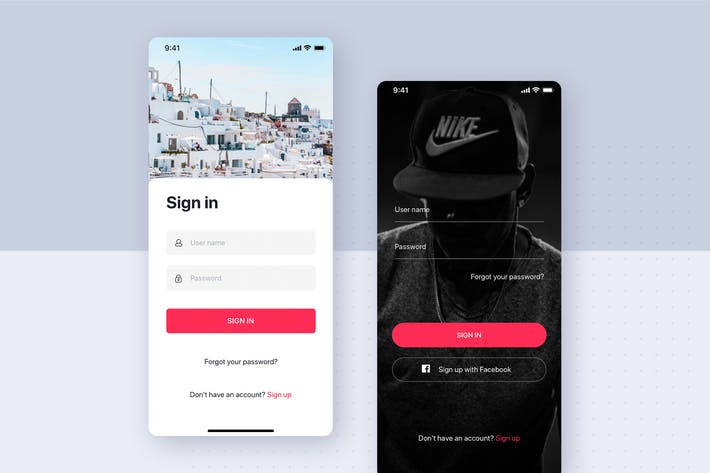 Cover Image For Sign In - Sign Up Mobile Interface Template