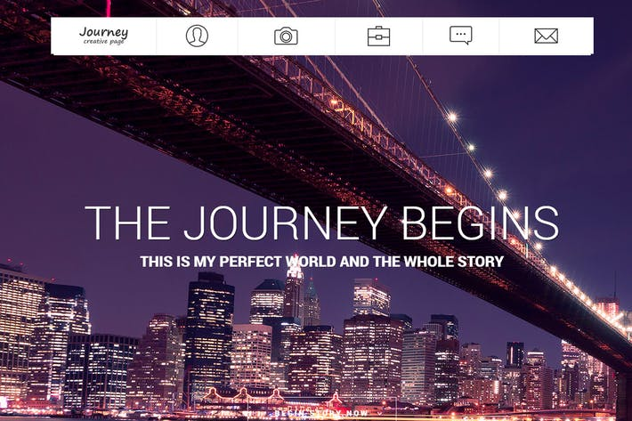 Thumbnail for Journey - One Page Photographer Template