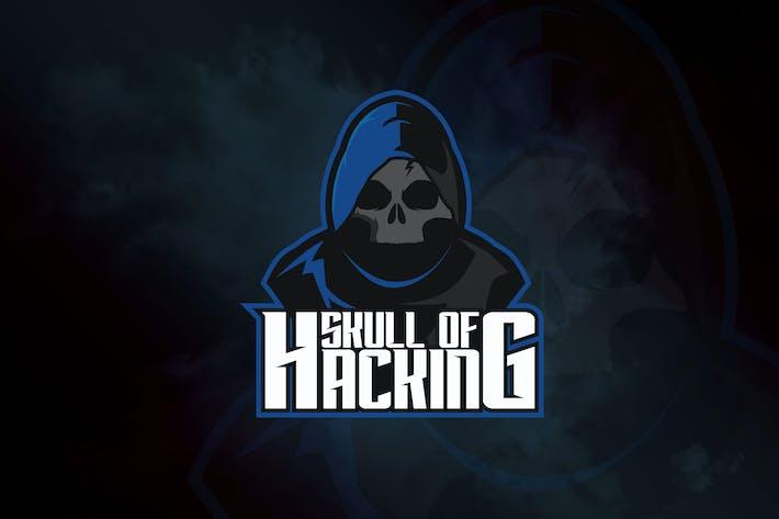 Thumbnail for Skull of Hacking - Mascot & eSport Logo RB
