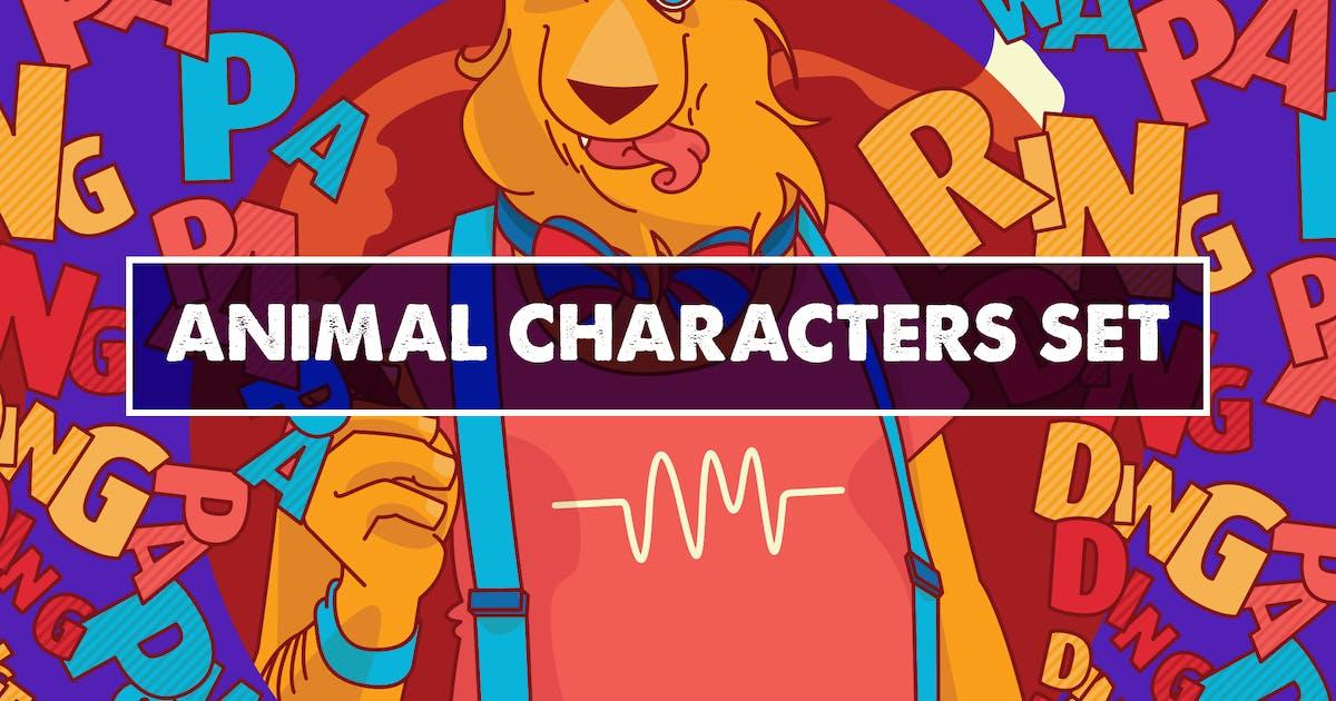 Download Animal Characters Set by Oxana-Milka
