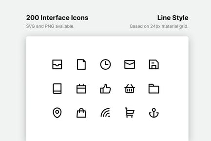 Interface Line Icons