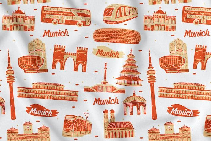 Thumbnail for Munich Seamless Pattern
