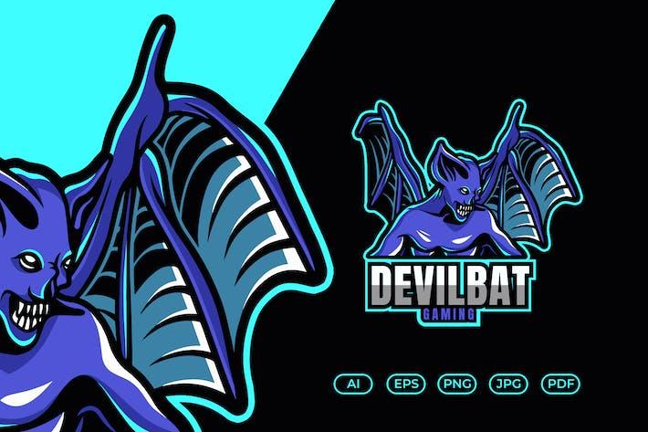 Thumbnail for Devil Bat Mascot Esport Logo