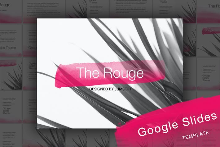 Thumbnail for The Rouge Google Slides Template