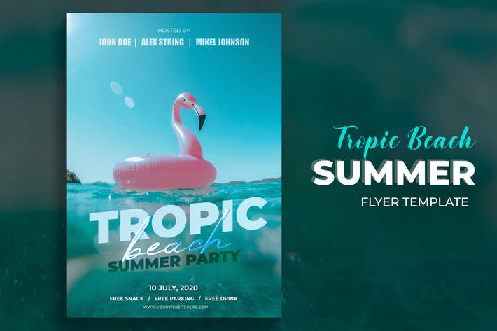 Thumbnail for Tropic Beach Summer Party Flyer Template