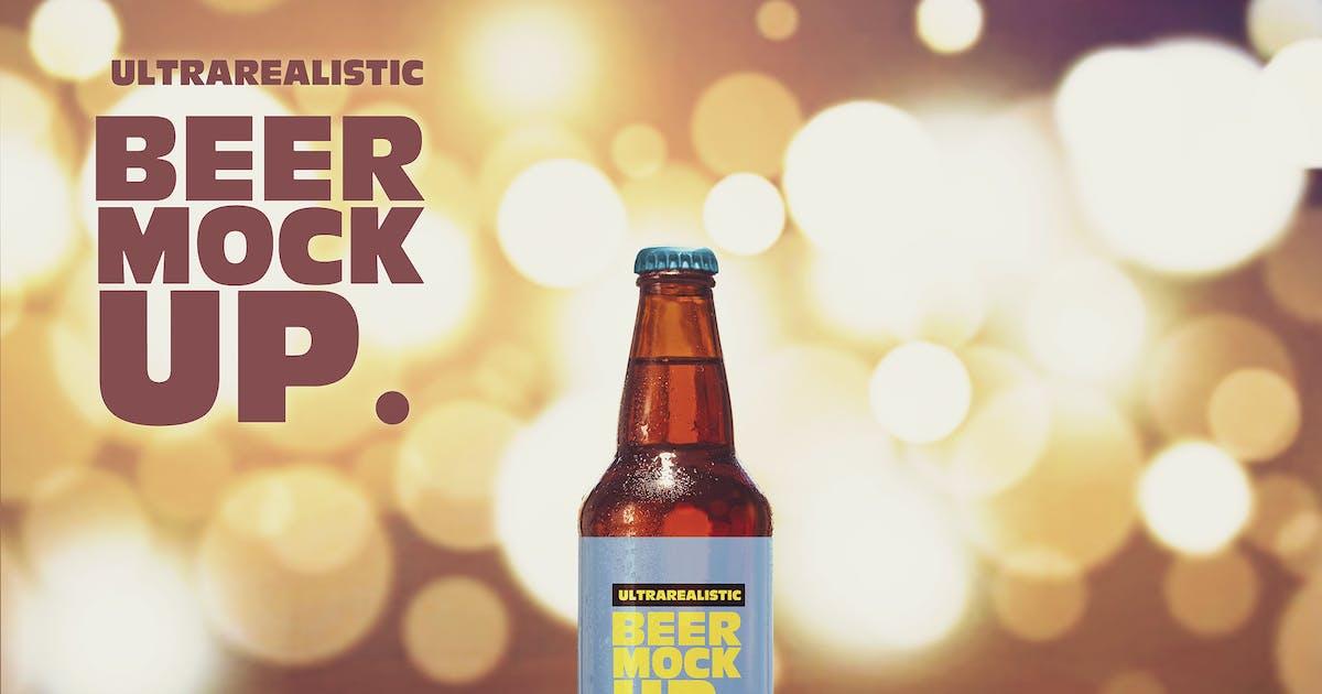 Download Light Blur Beer Mockup by SmartDesigns_eu