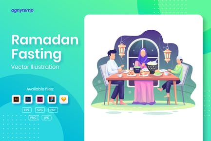 Ramadan Fasting Illustration - Agnytemp
