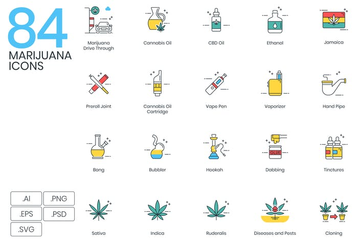 Cover Image For 84 Marijuana Icons